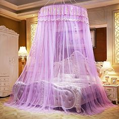 A-Express/® White Mosquito Net Bed Canopy Up To King Size 100/% Polyester 10 Meter Round