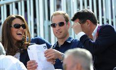 Sharing a joke: LOCOG Chairman Lord Sebastian Coe makes the Duke and Duchess of Cambridge laugh