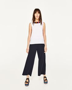 ZARA - WOMAN - TOP WITH NECKLACE £26