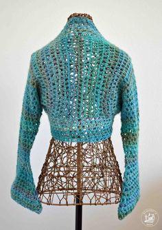 Sweet Spring Shrug No Seam Crochet Pattern