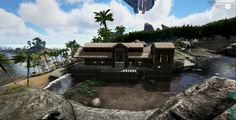 Quaint. Wood and Thatch house in Ark Survival Evolved.