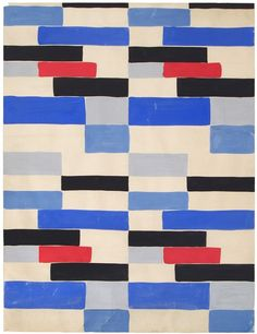Design B53  Designed by Sonia Delaunay (French, born Russia, 1885–1979)  France, 1924  Gouache on paper  Private collection  © L & M SERVICES B.V. The Hague 20100623  Photo: © private collection