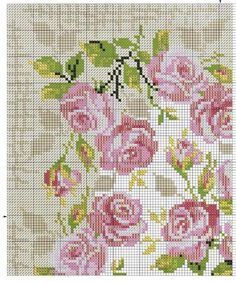 Cross stitch: Roses Pillow embroidery ~ Craft , handmade blog