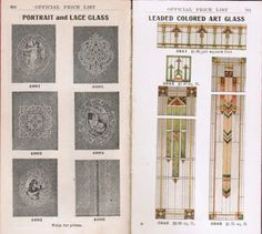 """rare pocket-size 1908 salesman's catalog of """"sash, doors, mouldings"""" published by shattock & mckay co. in chicago, for south side millwork co. in milwaukee, wisconsin - Stained Glass Windows - Products"""