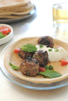 Lamb Meatball Gyros. Love lamb, wish I could get it locally...