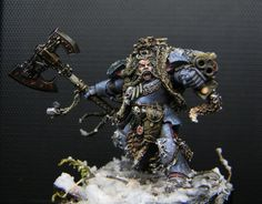 "Logan Grimnar by David ""Karaikal"" Rodriguez · Putty&Paint Warhammer 40k Space Wolves, Warhammer 40000, Wolf Painting, Space Marine, Miniatures, Hulk, Marines, Logan, Tabletop"