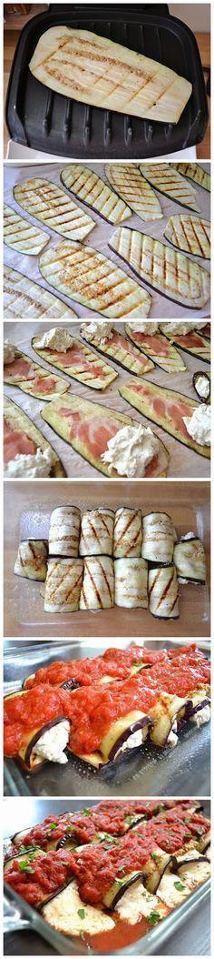 8ee4638cf4fe Rollitos de berenjenas con jamón ibérico y crema de queso ❤❤
