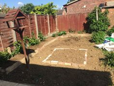 16.05.15 - Stage 2 less food miles - Garden begins to look like planting plan.