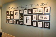 Paredes com galeria de fotos de família - *Decoração e Invenção*