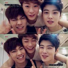 Rocky hyung, Moon Bin hyung and Cha Eun Woo hyung