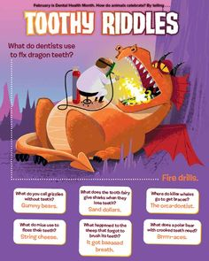 Toothy animal riddles to celebrate Dental Health Month in February (From Ranger…