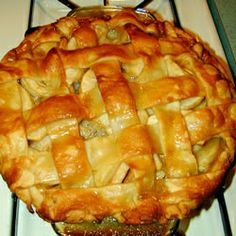 Apple Pie by Grandma Ople - Allrecipes.com. This was my first apple pie. A bit non-traditional (you don't stew the apples in spices, but pour caramel over them through a lattice crust), but super delicious nonetheless. I made it with Smitten Kitchen's amazing pie crust!