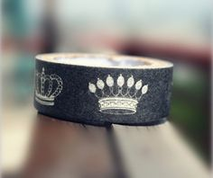 Imperial Crown Washi Tape Rice Paper Tape Crowns Masking Tape - 5m
