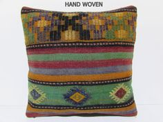 20x20 kilim pillow exclusively seat cushion by DECOLICKILIMPILLOWS