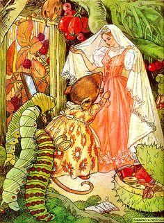 Beautiful vintage fairy tale illustration