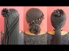 Easy Hairstyle For Long Hair Top 30 Asian - easy hair style for long hair Short Hair Updo, Short Hair Styles Easy, Easy Hairstyles For Long Hair, Little Girl Hairstyles, Straight Hairstyles, Braided Hairstyles, Cool Hairstyles, Natural Hair Styles, Elegant Hairstyles