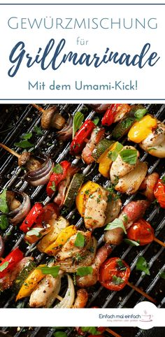 Spice mix for grill marinade - with umami kick! - With this spice mixture for grill marinade you have made a marinade for grill meat yourself in no t - Grilled Veggies, Grilled Meat, Bbq Grill, Grilling, Mexican Food Recipes, Ethnic Recipes, Smoking Meat, Spice Mixes, Meal Prep
