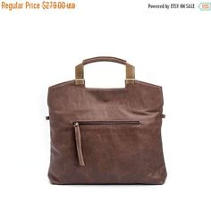 Taupe Leather Tote Bag / Women's Soft  Leather Bag /