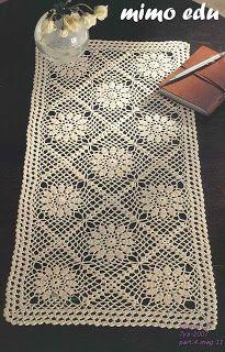 Mimo Crochet: مفرش وحدات مربعة