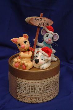 Resultado de imagen para cupcakes de porcelana fria paso a for Villas navidenas de porcelana