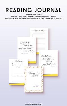 Elegant printable Reading Journal