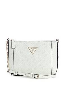 Kamryn Mini Crossbody at Guess Leather Crossbody Bag, Leather Bag, Triangle Logo, Guess Bags, Cross Body, Zip, Chain, Guess Handbags, Leather Satchel