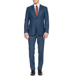 CanaliBlue Check Wool Suit