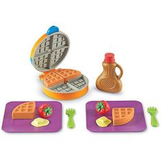 Learning Resources New Sprouts Waffle Time! - The Learning Resources New Sprouts Waffle Time! is going to show you something that your kids already know: The right time for waffles is right now. Buy Toys, Toys Shop, Toddler Toys, Kids Toys, Gourmet Breakfast, Breakfast Set, Play Food Set, Play Sets, Homemade Waffles