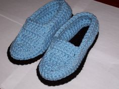 Crocheted Moccasins.  She has lots of free patterns on this site.