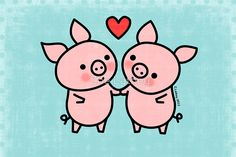 Little Pigs Valentine by Zoe Lathey