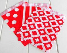 75 Multipack Red Polka Dot by SweetCastlePartyDIY on Etsy, $13.50