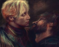 You were slower than I expected. by apfelgriebs on deviantART (Brienne of Tarth and Jaime Lannister) Jaime And Brienne, Jaime Lannister, Brienne Von Tarth, Fanart, Nikolaj Coster Waldau, Game Of Thrones Art, Fire And Ice, Winter Is Coming, Deviantart