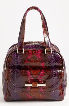 Jimmy Choo 'Justine - Small' Genuine Python Satchel available at #Nordstrom