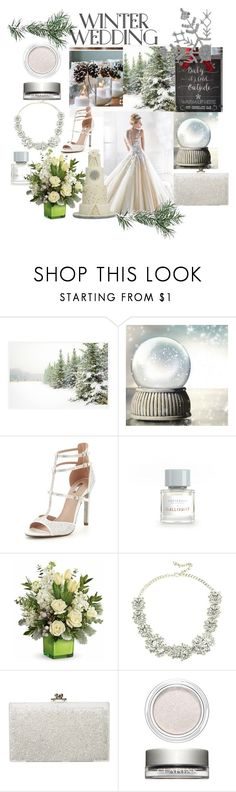"""Winter Wedding"" by sallytcrosswell on Polyvore featuring Pottery Barn, Carvela, Eye Candy, Ashlyn'd and Clarins"
