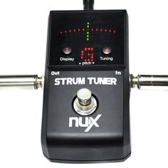 NUX Strum Tuner Pedal for Electric Guitar Bass Two Tuning Modes Metal Housing True Bypass