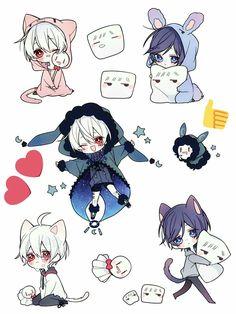 Yaoi Doujinshi 1 - Soraru x Mafumafu (tt) - Wattpad Anime Chibi, Kawaii Anime, Manga Anime, Chibi Boy, Anime Oc, Kawaii Chibi, Cute Chibi, Kawaii Art, Vocaloid