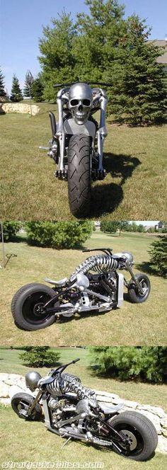 Skeleton Motorcycle #harleydavidsonshovelhead