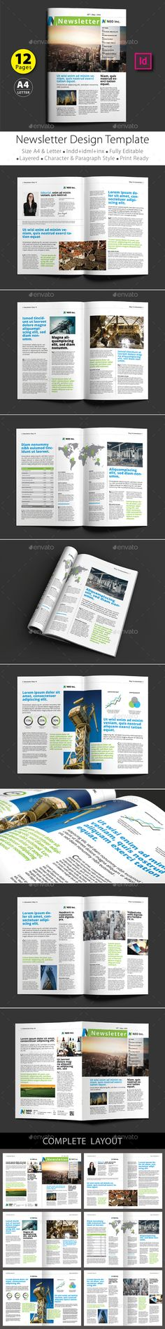 Business Newsletter Template Newsletter templates, Print - business newsletter