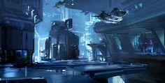 ArtStation - Halo 5 - city concept sketch, sparth .