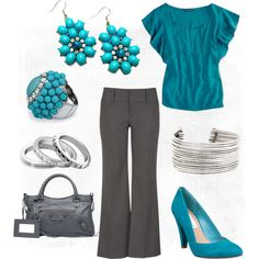 """""""Turquoise Dress Me Up"""" by amnito83 on Polyvore"""