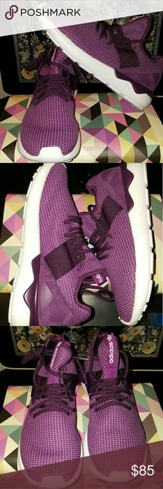 NIB Adidas Tubular Runner New never worn in box Adidas Tubular Runner purple tweed sizes 7.5 and 9 women Adidas Shoes Athletic Shoes