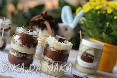 Dika da Naka Blog de Culinária, Receitas, Gastronomia e Dicas de Alimentação: Ovo de Páscoa no Pote de Prestígio