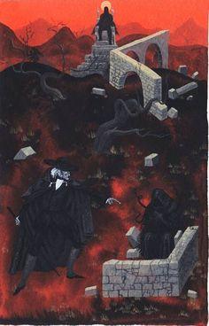 """Alan Brown's illustration for """"Count Magnus""""."""