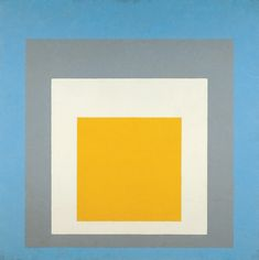 "Homage to the Square: ""Ascending"" by Joseph Albers, 1953 #nuancier"