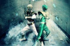 Power Rangers - White Ranger and Green Ranger Cosplay by VFX-KING @ DeviantArt