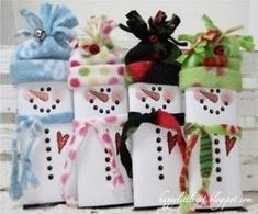 snowmen candy bars by Patricia Parcks