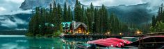 Official website for Emerald Lake Lodge in Yoho, BC. When you visit Emerald Lake Lodge, you follow in the footsteps of legendary guide Tom Wilson - who discovered this magical location more than 100 years ago. With its century-old fireplaces and an oak bar salvaged from an 1890's Yukon saloon, there is no shortage of history within these walls.