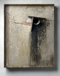 """Brian Dickerson - Untitled 32""""x 24""""x 6"""". Oil on wood. Not available- Private Collection"""