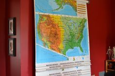 Roll Up Maps for Homeschool Social Studies, Kids Learning, Homeschooling, Maps, Room Ideas, Study, Rooms, Bedrooms, Studio
