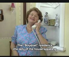 Keeping Up Appearances: bouquet residence lady of the house speaking - loved this show British Sitcoms, British Comedy, British Humor, Appearance Quotes, English Comedy, Keeping Up Appearances, Bbc Tv, Comedy Tv, Classic Tv